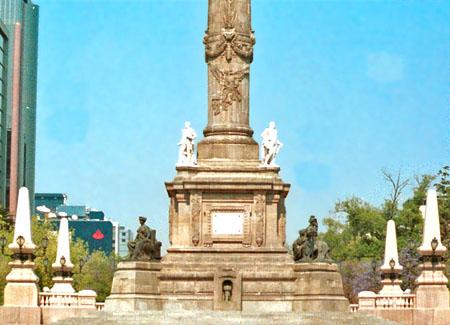 Vista posterior de la columna