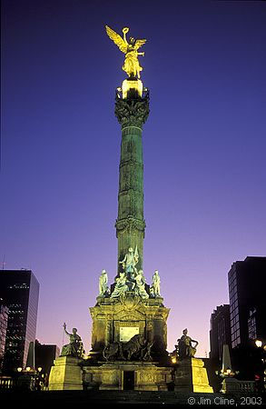 Columna de la Independencia, vista nocturna