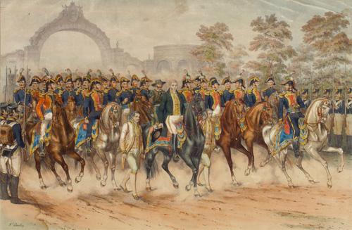 Lllegada del Ejército Trigarante a la Garita de Belén en 1821