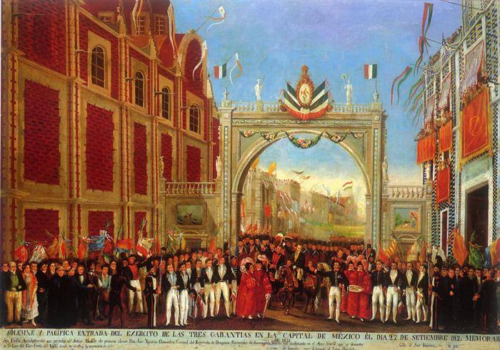 Bienvenida al Ejército Trigarante en 1821