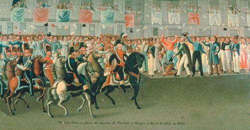 Lllegada del Ejército trigarante a las Puertas del Palacio Virreinal
